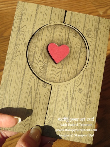 Hardwood Valentine Flip Card… Stampin' Up!® - Stamp Your Art Out! www.stampyourartout.com