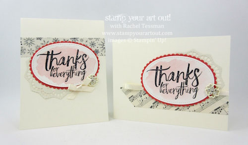 Thailand Achiever's Blog Hop December 2016: 2017 Occasions Catalog/Catalogue Sneak Peek (Cards made with All Things Thanks stamp set, double-sided Lace Doilies, Falling In Love Embellishments and Very Vanilla Satin Ribbon)…#stampyourartout - Stampin' Up!® - Stamp Your Art Out! www.stampyourartout.com